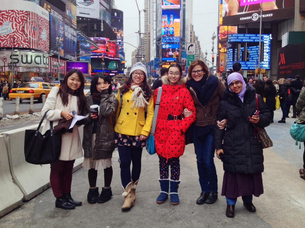 ALP students in Times Square
