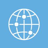 Icon flat globe