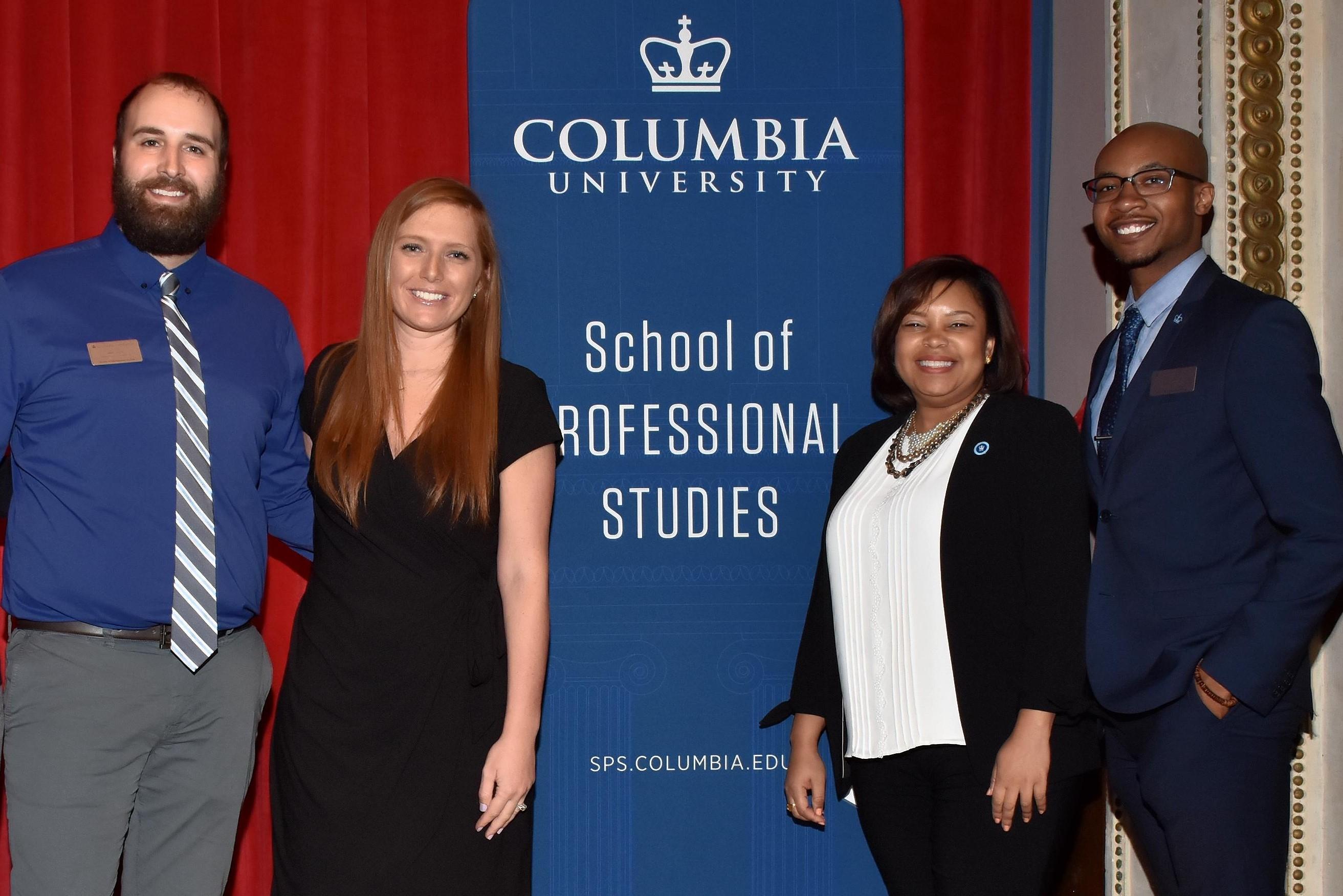 SPS Office of Student Life staff (from left to right): Jason Joyce, Tiffany Onorato, Dr. Tatum Thomas, and Joshua Mackey