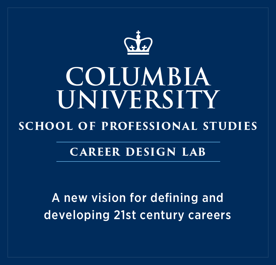center lockup overlay with description of page: Career Design Lab Columbia School of Professional Studies San Francisco