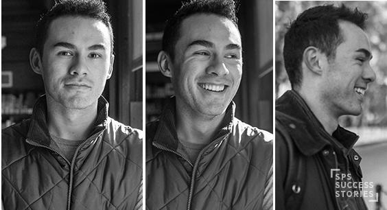 three Daniel Salas headshots